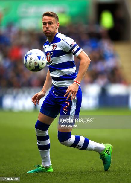 Chris Gunter of Reading in action during the Sky Bet Championship match between Reading and Wigan Athletic at Madejski Stadium on April 29 2017 in...