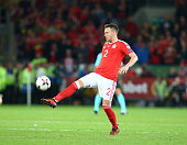 chris gunter wales during world cup