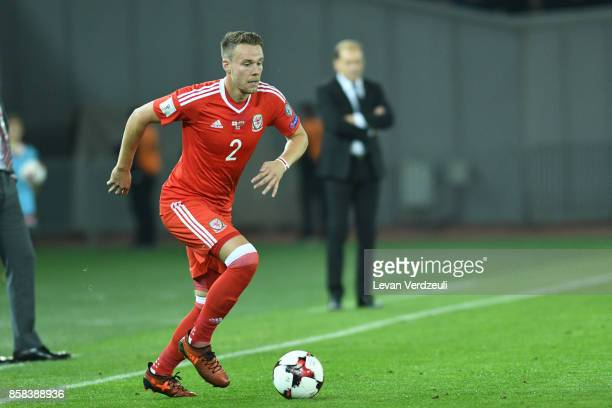 Chris Gunter of Wales in action during the FIFA 2018 World Cup Qualifier between Georgia and Wales at Boris Paichadze Dinamo Arena Tbilisi Georgia on...