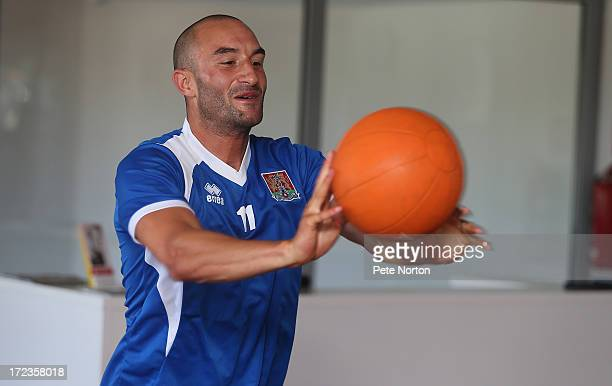 Chris Hackett of Northampton Town takes part in a gym session during PreSeason Training on July 2 2013 in Novigrad Croatia