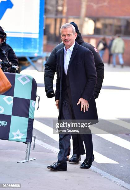 Chris Hadfield arrives to Build at Build Studio on March 15 2018 in New York City