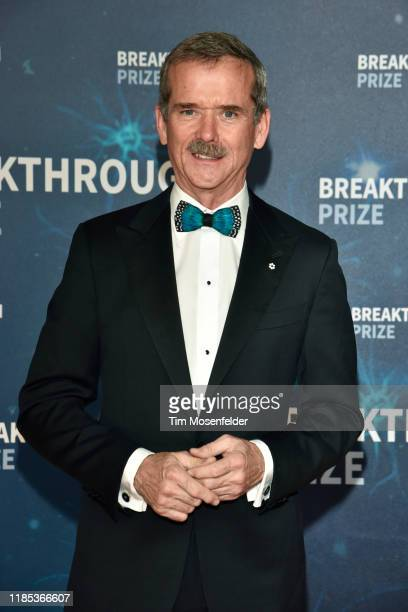 Chris Hadfield attends the 2020 Breakthrough Prize Red Carpet at NASA Ames Research Center on November 03 2019 in Mountain View California