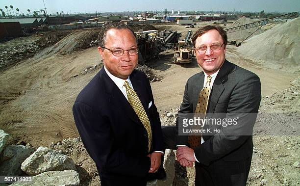 Chris Hammond,CEO of Capital Vision Equities with Kyle Arnot, President of Capitol Vision Equities at the site of Chesterfield Square, a construction...