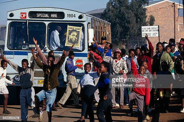 Chris Hani chief of staff of Umkhonto we Sizwe the armed wing of the African National Congress was murdered on April 10 1993