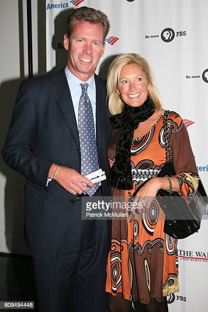 Chris Hansen and Mary Joan Hansen attend KEN BURNS Movie Premiere of THE WAR at MOMA on September 17 2007 in New York City