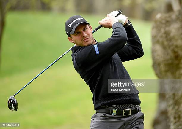 Chris Hanson of England during the first round of Challenge de Madrid at the Real Club de Golf La Herreria on April 28 2016 in Madrid