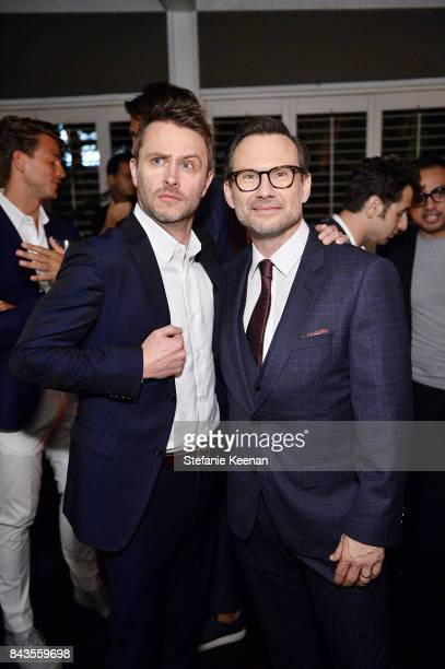 Chris Hardwick and Christian Slater attend Esquire Celebrates September Issue's 'Mavericks of Style' Presented by Hugo Boss at Chateau Marmont on...