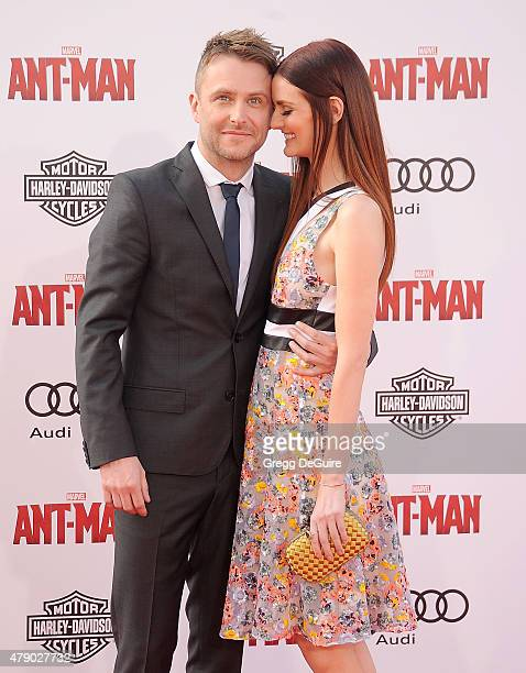 Chris Hardwick and Lydia Hearst arrive at the premiere of Marvel Studios 'AntMan' at Dolby Theatre on June 29 2015 in Hollywood California