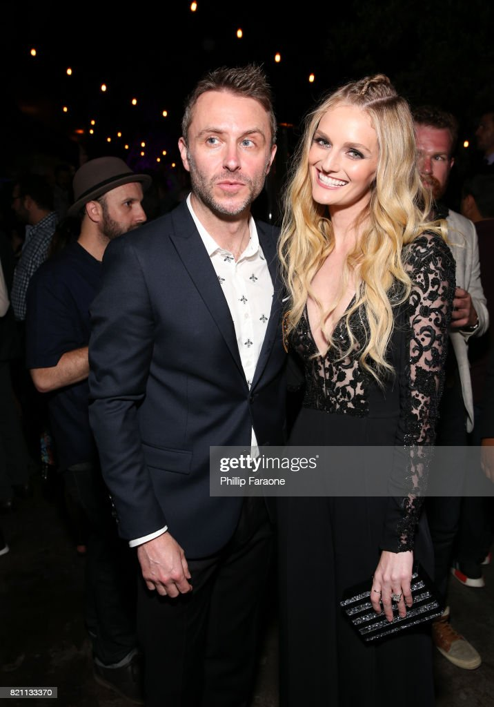 Chris Hardwick (L) and Lydia Hearst at Entertainment Weekly's annual Comic-Con party in celebration of Comic-Con 2017 at Float at Hard Rock Hotel San Diego on July 22, 2017 in San Diego, California.