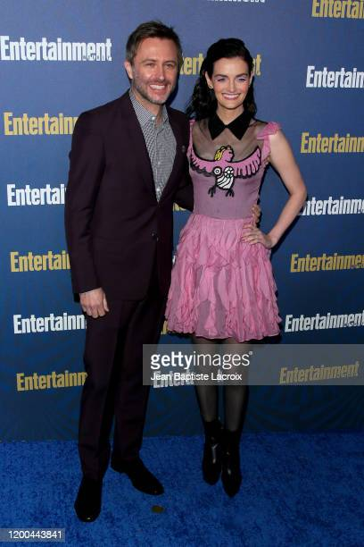 Chris Hardwick and Lydia Hearst attend Entertainment Weekly PreSAG Celebration at Chateau Marmont on January 18 2020 in Los Angeles California