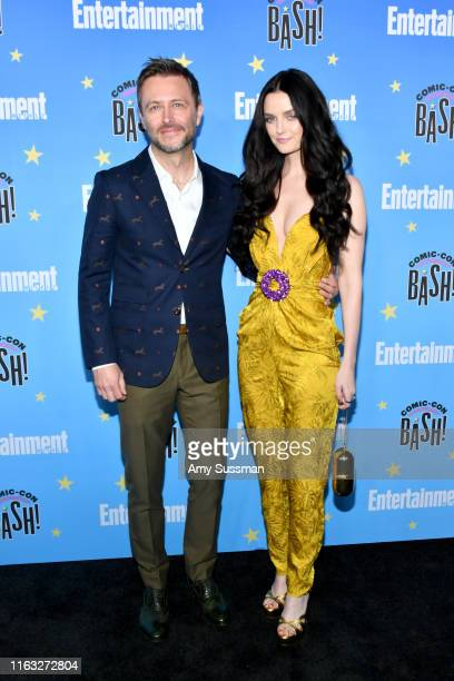 Chris Hardwick and Lydia Hearst attend Entertainment Weekly's ComicCon Bash held at FLOAT Hard Rock Hotel San Diego on July 20 2019 in San Diego...