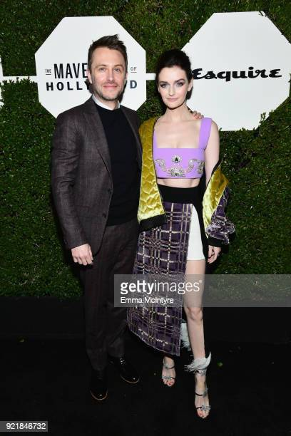 Chris Hardwick and Lydia Hearst attend Esquire's 'Mavericks of Hollywood' Celebration presented by Hugo Boss on February 20 2018 in Los Angeles...
