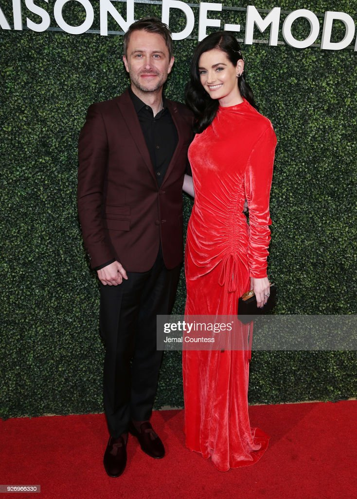 Chris Hardwick and Lydia Hearst attend the MAISON-DE-MODE Celebrates Sustainable Style By Honoring Suzy Amis Cameron Of Red Carpet Green Dress at Sunset Tower on March 3, 2018 in Los Angeles, California.