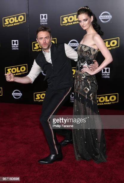 Chris Hardwick and Lydia Hearst attend the premiere of Disney Pictures and Lucasfilm's Solo A Star Wars Story at the El Capitan Theatre on May 10...