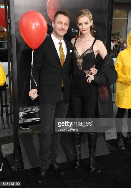 Chris Hardwick and Lydia Hearst attend the premiere of It at TCL Chinese Theatre on September 5 2017 in Hollywood California