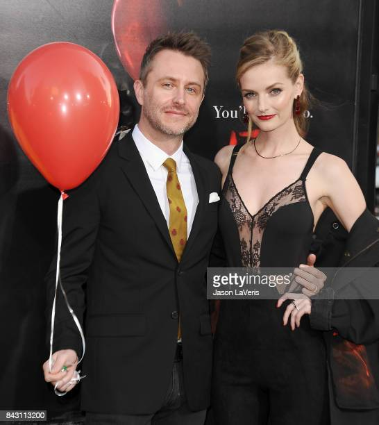 Chris Hardwick and Lydia Hearst attend the premiere of 'It' at TCL Chinese Theatre on September 5 2017 in Hollywood California