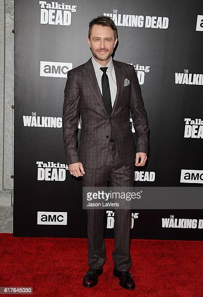 Chris Hardwick attends the live 90minute special edition of 'Talking Dead' at Hollywood Forever on October 23 2016 in Hollywood California