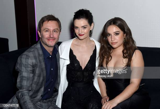 Chris Hardwick Lydia Hearst and Gideon Adlon attend the 13th annual Women In Film Female Oscar Nominees Party presented by Max Mara Stella Artois...