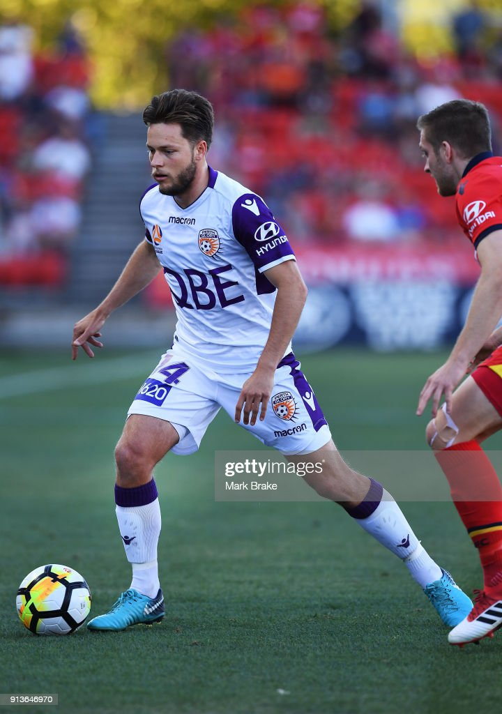 Chris Harold of Perth Glory during the round 19 A-League match between Adelaide United and the Perth Glory at Coopers Stadium on February 3, 2018 in Adelaide, Australia.
