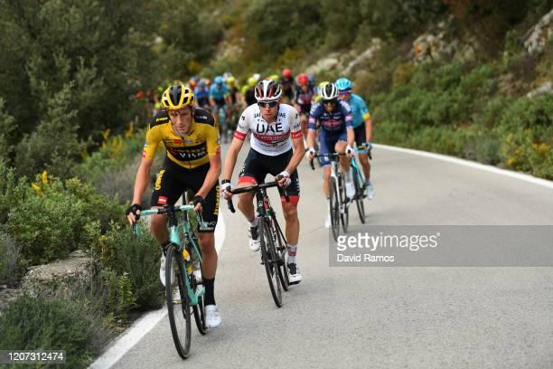 Chris Harper of Australia and Team JumboVisma / David de La Cruz of Spain and UAETeam Emirates / during the 66th Vuelta a Andalucía Ruta del Sol 2020...