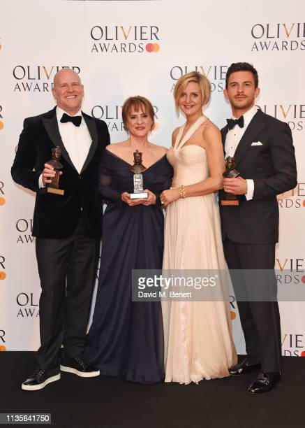 Chris Harper Patti LuPone Marianne Elliott and Jonathan Bailey winners of the Best Musical Revival award Best Actor In A Supporting Role In A Musical...