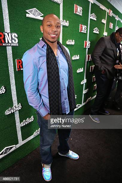 Chris Harris attends Roc Nation Sports Celebration Presented By Airbnb At The 40/40 Club on February 1 2014 in New York City