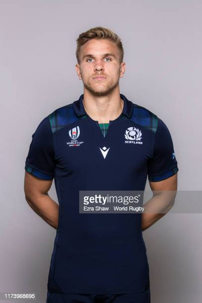 Chris Harris of Scotland poses for a portrait during the Scotland Rugby World Cup 2019 squad photo call on on September 11, 2019 in Nagasaki, Japan.