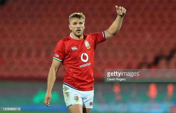 Chris Harris of the British and Irish Lions looks on during the Sigma Lions v British & Irish Lions tour match at Emirates Airline Park on July 03,...