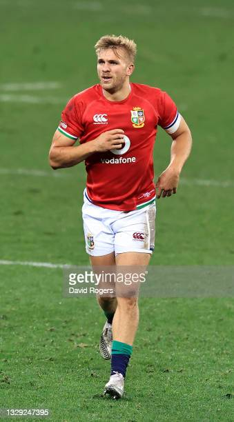 Chris Harris of the British & Irish Lions looks on during the match between the DHL Stormers and the British & Irish Lions at Cape Town Stadium on...