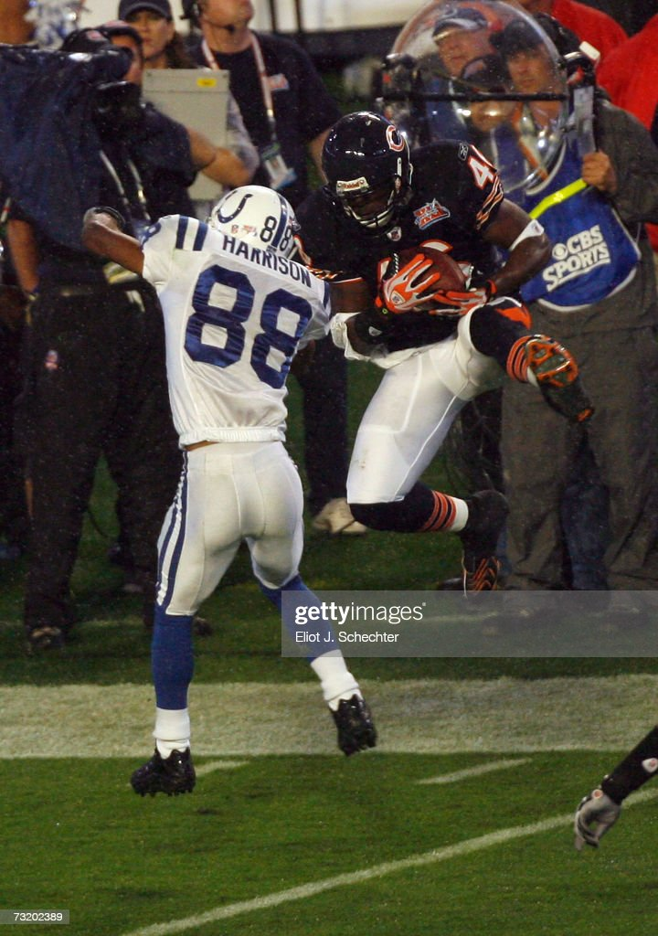 Chris Harris Of The Chicago Bears Intercepts A Pass Intended For