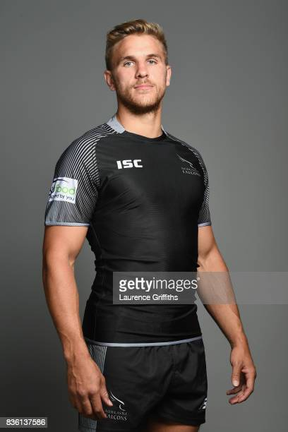 Chris Harris of the Newcastle Falcons poses for a portrait during the Newcastle Falcons photocall at Kingston Park on August 17 2017 in Newcastle...