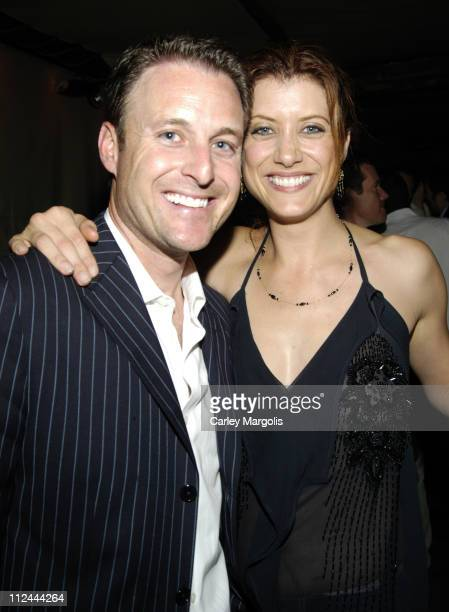 Chris Harrison and Kate Walsh of Grey's Anatomy during Celebrities in Town for UpFronts Attend Bunny Chow Tuesdays at Cain May 16 2006 at Cain in New...