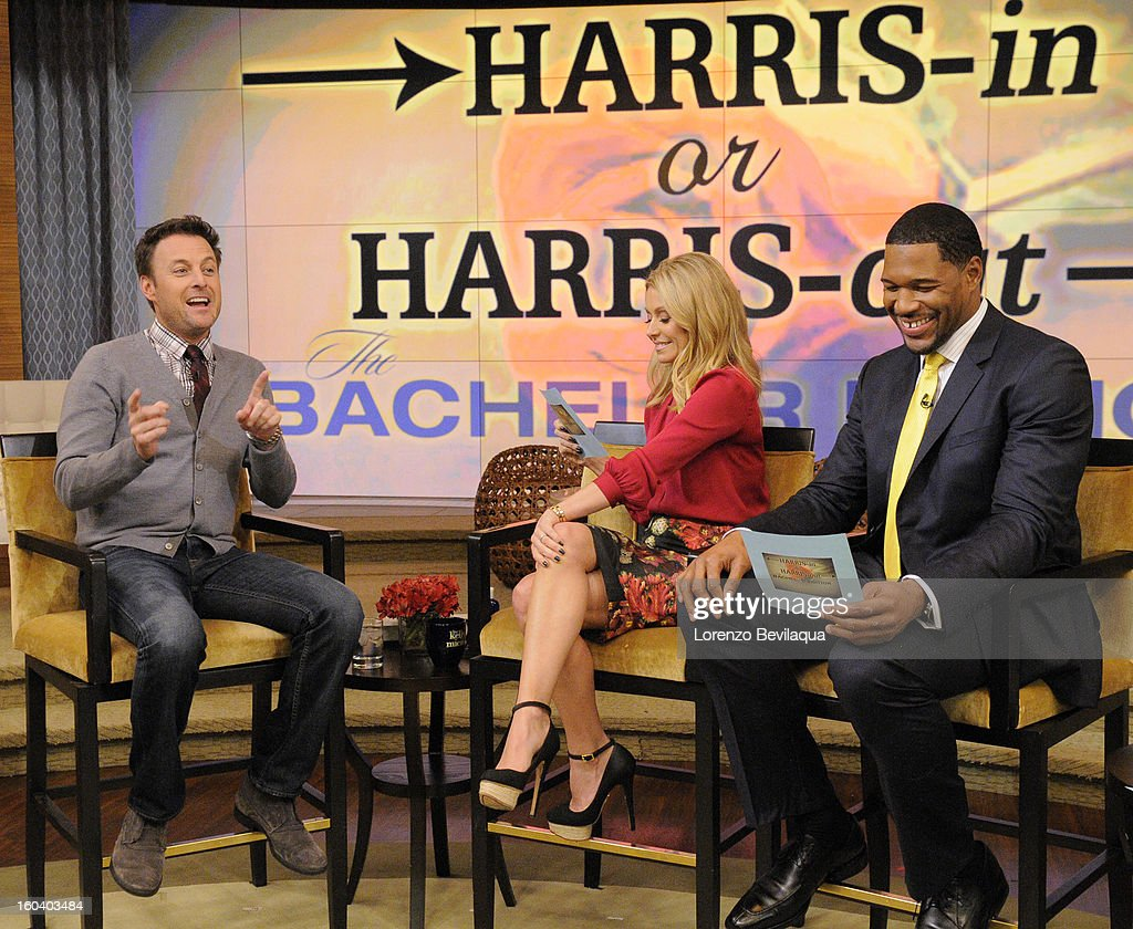 MICHAEL -1/30/13 - Chris Harrison appears on the newly-rechristened syndicated talk show, LIVE with Kelly and Michael,' distributed by Disney-ABC Domestic Television. CHRIS