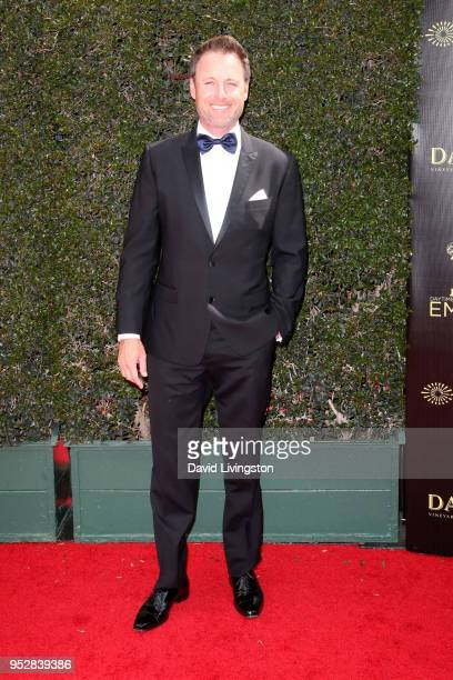 Chris Harrison attends the 45th annual Daytime Emmy Awards at Pasadena Civic Auditorium on April 29 2018 in Pasadena California