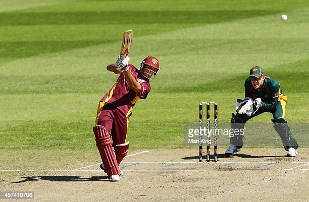 Chris Hartley of the Bulls bats during the Matador BBQs One Day Cup match between Queensland and Tasmania at North Sydney Oval on October 18 2014 in...