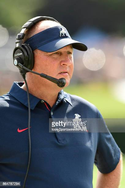 Chris Hatcher head football coach watches from the sideline in the Southern Conference game against the Wofford College Terriers Saturday October 21...