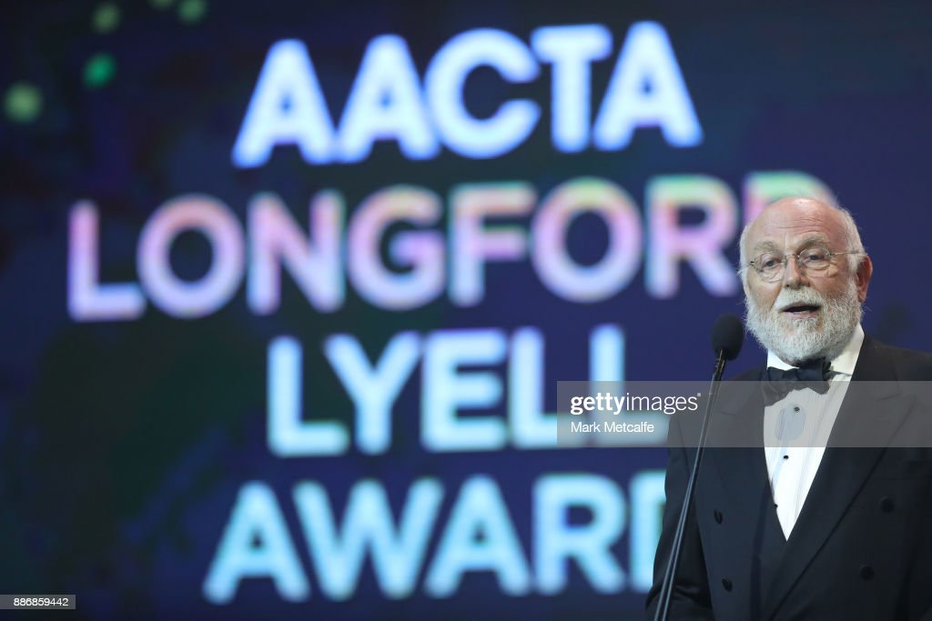 Chris Haywood presents the Longford Lyell Award during the 7th AACTA Awards Presented by Foxtel | Ceremony at The Star on December 6, 2017 in Sydney, Australia.