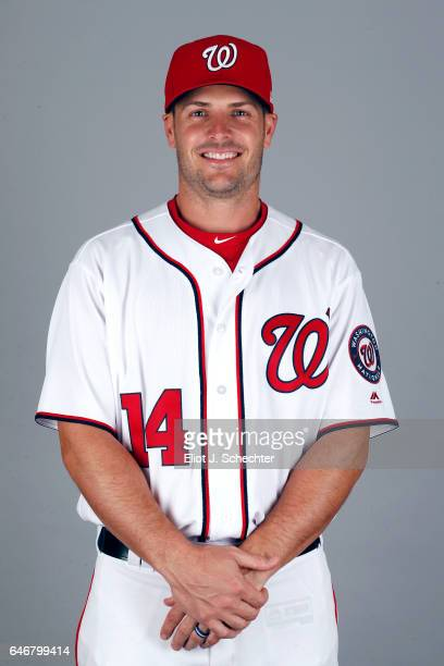 Chris Heisey of the Washington Nationals poses during Photo Day on Thursday February 23 2017 at the Ballpark of the Palm Beaches in West Palm Beach...