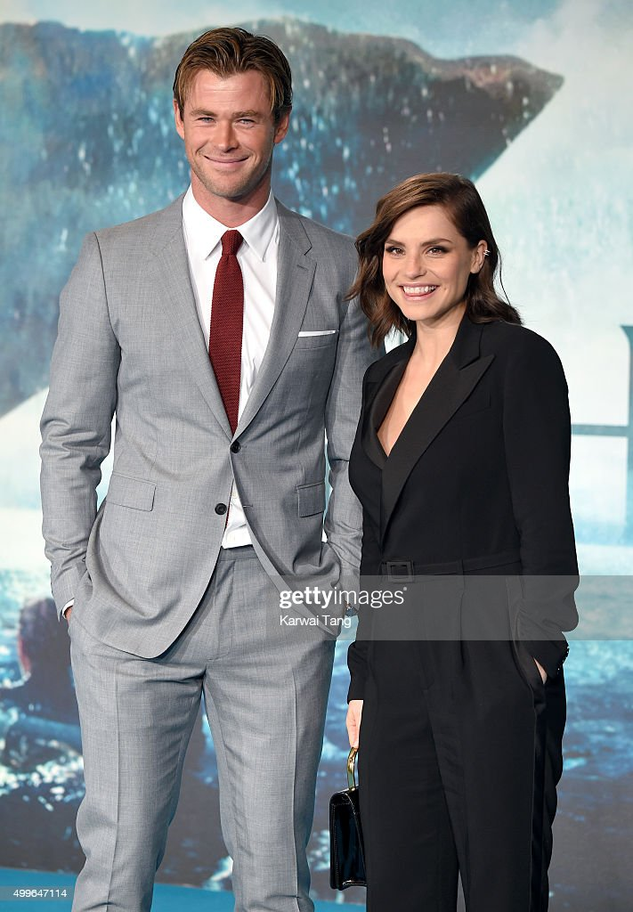 Chris Hemsworth and Charlotte Riley attend the European Premiere of 'In The Heart Of The Sea' at Empire Leicester Square on December 2, 2015 in London, England.
