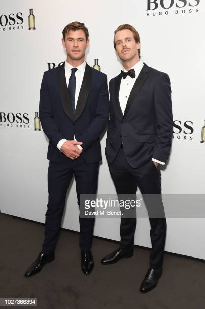 Chris Hemsworth and Chris Burt Allen attend the GQ Men of the Year Awards 2018 in association with HUGO BOSS at Tate Modern on September 5, 2018 in...