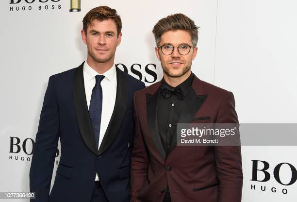 Chris Hemsworth and Darren Kennedy attend the GQ Men of the Year Awards 2018 in association with HUGO BOSS at Tate Modern on September 5 2018 in...