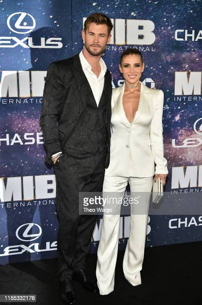 "Chris Hemsworth and Elsa Pataky attend ""Men In Black International"" World Premiere at AMC Loews Lincoln Square 13 on June 11, 2019 in New York City."