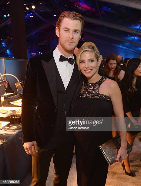 Chris Hemsworth and Elsa Pataky attend the Universal NBC Focus Features E Sponsored by Chrysler Viewing And after party with Gold Meets Golden held...