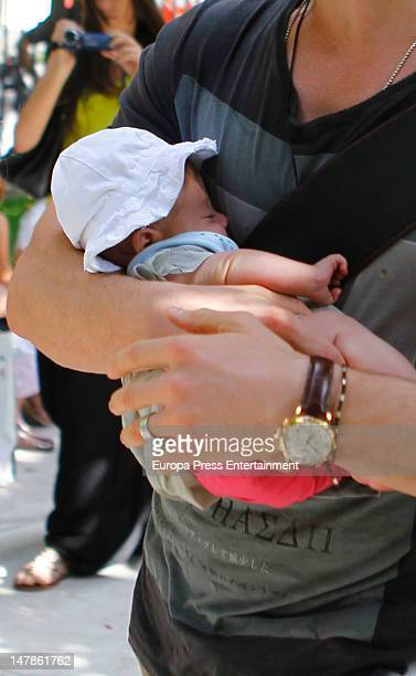 Chris Hemsworth and his daughter India Rose are seen going shopping on July 4, 2012 in Madrid, Spain.