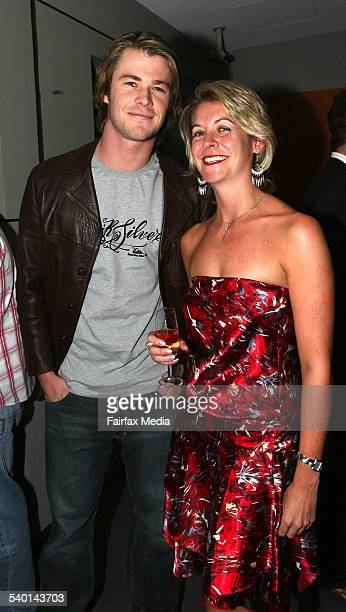 Chris Hemsworth and Leonie Nichols at the Aurora Bar and Lounge opening, Sydney, 23 August 2006. SHD Picture by JANIE BARRETT
