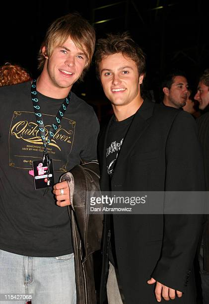 Chris Hemsworth and Mark Furze during MTV Australia Video Music Awards 2006 After Party at Superdome in Sydney Australia