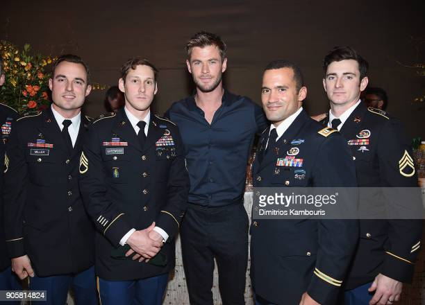 Chris Hemsworth and members of US Special Forces attend The '12 Strong' World Premiere after party on January 16 2018 in New York City