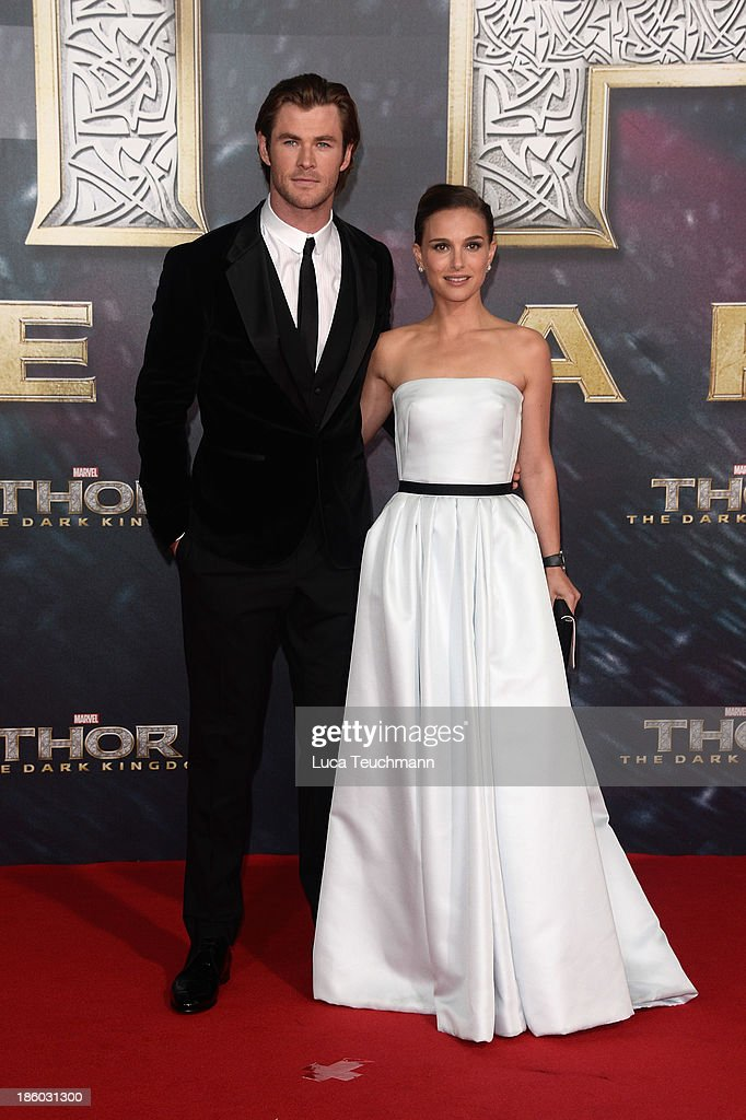 Chris Hemsworth and Natalie Portman arrive for