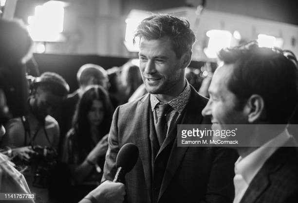 Chris Hemsworth and Paul Rudd attend the UK Fan Event to celebrate the release of Marvel Studios' 'Avengers Endgame' at Picturehouse Central on April...