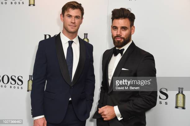 Chris Hemsworth and Timothy James attend the GQ Men of the Year Awards 2018 in association with HUGO BOSS at Tate Modern on September 5 2018 in...